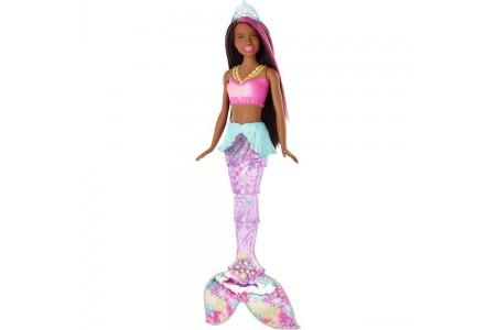 Barbie Dreamtopia Sparkle Lights Mermaid - Brunette Free Shipping