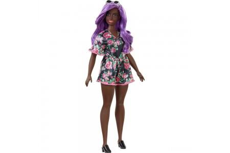 Barbie Fashionistas Doll #125 Black Floral Dress Sale