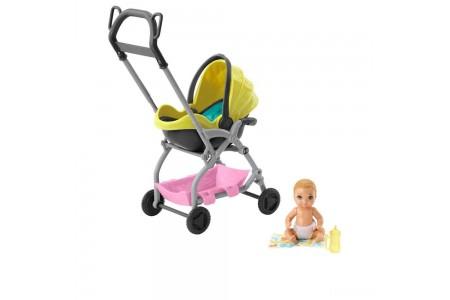 Barbie Skipper Babysitter Inc. Stroller and Baby Playset Sale