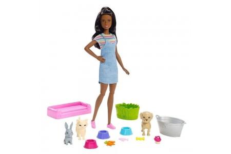 Black Friday 2020 | Barbie Play 'n' Wash Pets Nikki Doll and Playset sales