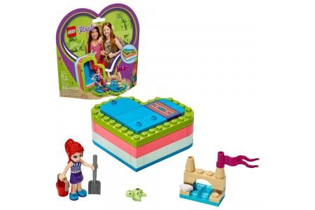 LEGO Friends Mia's Summer Heart Box 41388 Building Kit with Turtle Figure and Mia Mini Doll 85pc Sale