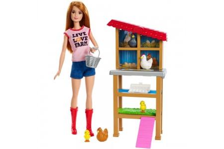 Barbie Chicken Farmer Doll & Playset Sale