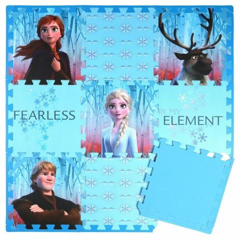 Disney Frozen 2 9pc Tile Foam Interlocking Fitness Mats Sale